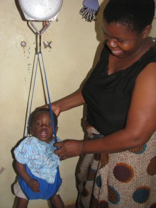 Nutrition programme hanging scale