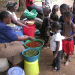 Children Receiving their Daily Meal!