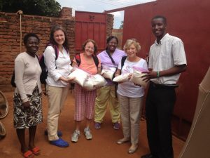 Crisis Nursery Team donating formula small